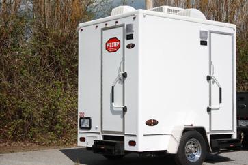 washroom trailers pit stop portables toilet rentals washroom
